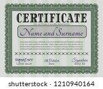 green classic certificate... | Shutterstock .eps vector #1210940164