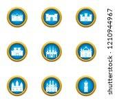 spire icons set. flat set of 9... | Shutterstock .eps vector #1210944967