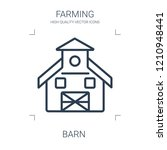 barn icon. high quality line...   Shutterstock .eps vector #1210948441