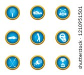 honor sport icons set. flat set ... | Shutterstock .eps vector #1210951501