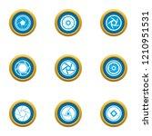 close visor icons set. flat set ...   Shutterstock .eps vector #1210951531