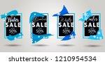 winter sale banner. origami... | Shutterstock .eps vector #1210954534