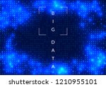 quantum computing background.... | Shutterstock .eps vector #1210955101