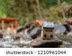 little toy house model dream... | Shutterstock . vector #1210961044