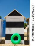 Colorful Beach Huts On The...