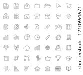 big set of ui   ux icons vector ...