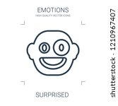 surprised icon. high quality...   Shutterstock .eps vector #1210967407