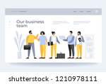 concept teamwork. meeting... | Shutterstock .eps vector #1210978111