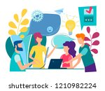 training of office staff.... | Shutterstock .eps vector #1210982224
