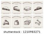 italian desserts labels... | Shutterstock .eps vector #1210983271