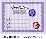 violet formal invitation... | Shutterstock .eps vector #1210993474