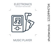 music player icon. high quality ...