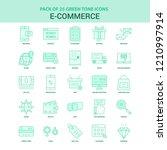 25 green e commerce icon set | Shutterstock .eps vector #1210997914