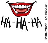 mouth emotion smile fun laugh... | Shutterstock . vector #1211007004