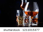 set of strong alcoholic drinks... | Shutterstock . vector #1211015377