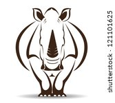 Vector Image Of An Rhino On...