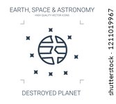 destroyed planet icon. high... | Shutterstock .eps vector #1211019967