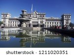 a main square at the guatemala... | Shutterstock . vector #1211020351