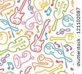 vector musical instruments... | Shutterstock .eps vector #121102087