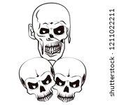 halloween scary cartoons   Shutterstock .eps vector #1211022211