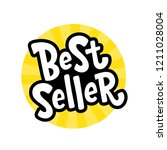 best seller yellow black white... | Shutterstock .eps vector #1211028004