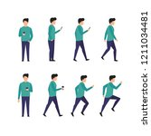 man character  different poses  ...   Shutterstock .eps vector #1211034481