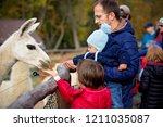 sweet cute toddler child ... | Shutterstock . vector #1211035087