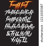 vector handwritten font for... | Shutterstock .eps vector #1211035387