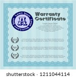light blue vintage warranty... | Shutterstock .eps vector #1211044114