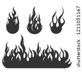 fire black flat icons | Shutterstock .eps vector #1211051167