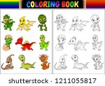 coloring book with little... | Shutterstock . vector #1211055817