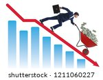 businessman pushing money... | Shutterstock . vector #1211060227