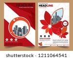 cover brochure layout annual...   Shutterstock .eps vector #1211064541