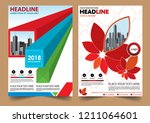 cover brochure layout annual...   Shutterstock .eps vector #1211064601