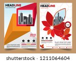 cover brochure layout annual...   Shutterstock .eps vector #1211064604