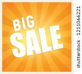 big sale text in a shiny orange ...   Shutterstock .eps vector #1211066221