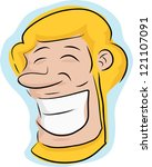 happy blond man with beard over ... | Shutterstock .eps vector #121107091