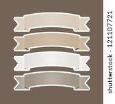 set of ribbons speech vector... | Shutterstock .eps vector #121107721