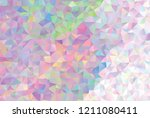 low poly mosaic background.... | Shutterstock .eps vector #1211080411