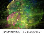 low poly mosaic background.... | Shutterstock .eps vector #1211080417