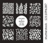 botanical vector textures for... | Shutterstock .eps vector #1211096287