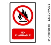 no flammable symbol sign ... | Shutterstock .eps vector #1211099311