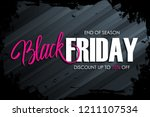 black friday sale banner with... | Shutterstock .eps vector #1211107534