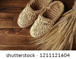 old bast shoes | Shutterstock . vector #1211121604