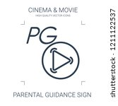 parental guidance sign icon.... | Shutterstock .eps vector #1211122537
