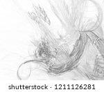 monochrome abstract fractal... | Shutterstock . vector #1211126281