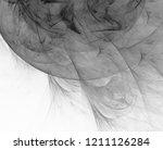 monochrome abstract fractal... | Shutterstock . vector #1211126284