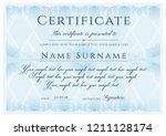 certificate template. formal... | Shutterstock .eps vector #1211128174