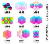 vector logo design elements set ... | Shutterstock .eps vector #1211128861