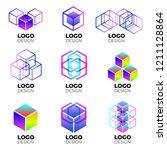 vector logo design elements set ... | Shutterstock .eps vector #1211128864